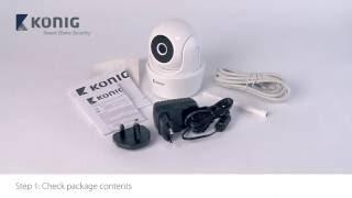 Konig SAS-CLALIPC10 – Pan tilt WiFi camera 720p installation iOS – ENG