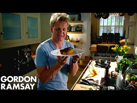 Video Spiced Pork Chop with Sweet Potato Mash - Gordon Ramsay