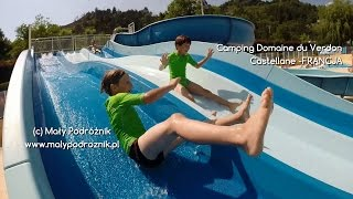 preview picture of video 'FRANCJA - Castellane - Camping Domaine du Verdon, wodne zabawy - (France).'