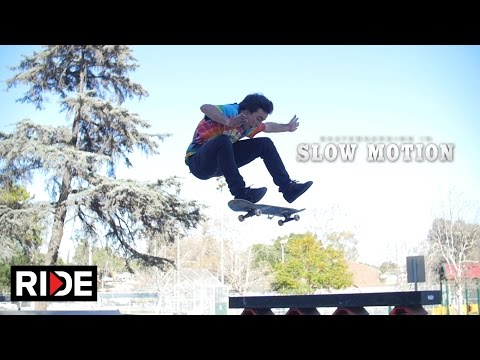 Micky Papa Skateboarding in Slow Motion - Hazard Park