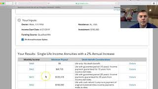 Fidelity's Guaranteed Income Annuity Calculator