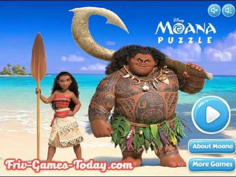 Игра - пазл Моана - собери любимых героев мультфильма
