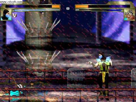 MUGEN: Mortal Kombat vs Street Fighter Tribute (300% HP Battle)