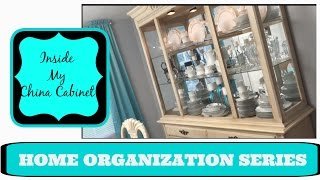 HOME ORGANIZATION | INSIDE MY CHINA CABINET