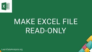 How to make an Excel file READ-ONLY | MS Excel Tutorial