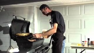 Cooking Burgers on a Propane Grill