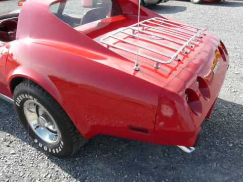 1976 Red Red Corvette Stingray For Sale 4spd Video