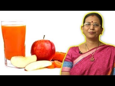 Video Apple Carrot Juice - Health Drink During Pregnancy | Mallika Badrinath Recipes