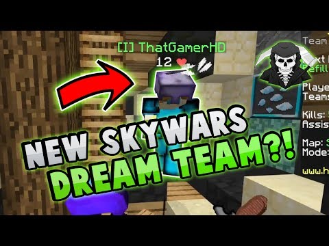 THE NEW DREAM TEAM IN HYPIXEL SKYWARS?!