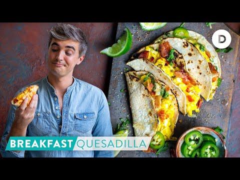 RECIPE: SUPER EASY Cheesy Breakfast Quesadilla!