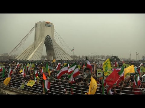 Hundreds of thousands of people took to the streets of Tehran and other cities and towns across Iran on Monday, marking the date 40 years ago that is considered victory day in the country's 1979 Islamic Revolution. (Feb. 11)