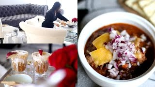 Cozy Fall Night Routine -  Home Made Chili & Apple Pie Floats! #iHeartFall Ep 6 - MissLizHeart