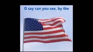 THE STAR SPANGLED BANNER USA American National Anthem words lyrics patriotic songs sing-along