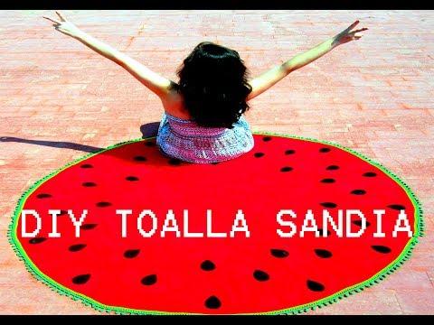 DIY TOALLA DE PLAYA REDONDA SANDIA