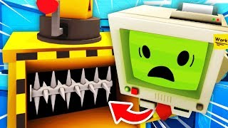 Using HACKS To DESTROY JOB BOT In HUGE SHREDDER (Funny Job Simulator VR Gameplay)