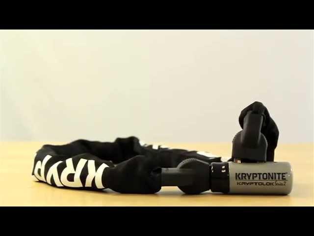 Видео Замок на ключ Kryptonite KryptoLok 912 Series 2 Key Chain черно-белый