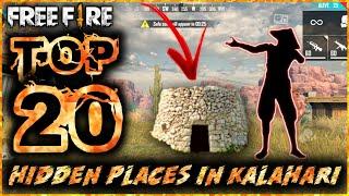 TOP 20 HIDING PLACES IN KALAHARI [BEST HIDDEN AND SECRET PLACES IN KALAHARI FREE FIRE 2020]