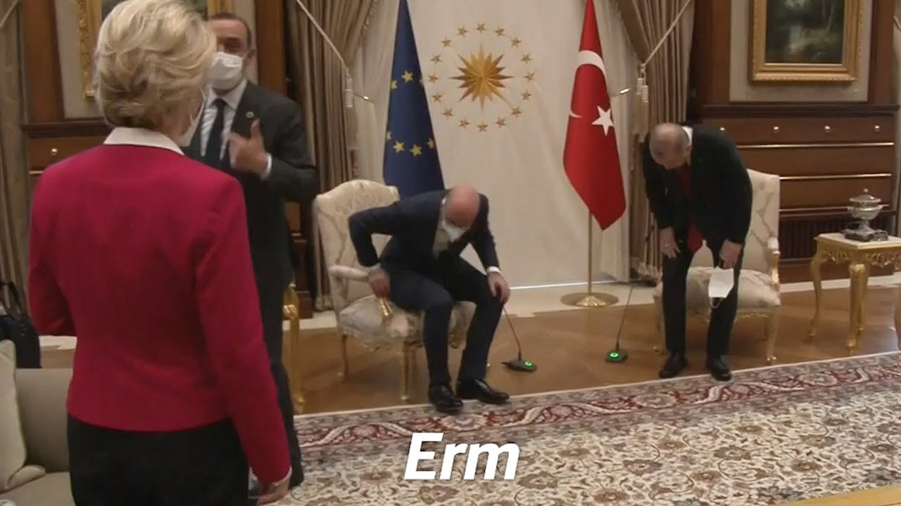 Image of Turkish musical chairs triggers 'diplomatic fiasco' after Ursula von der Leyen relegated to sofa