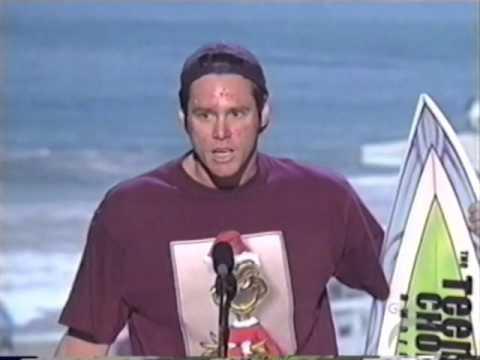 Jim Carrey trolling everyone at 2000 Teen Choice Awards