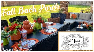 Fall Back Porch Patio Decor | Fall Table Decor Collab | Outdoor Lounge Area | Vlogtober Day 7