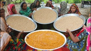 Traditional Gram Pulses Curry - Tasty Boot Dal Curry Cooking For Whole Village People