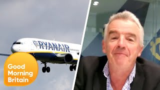 Susanna Questions Ryanair Boss Michael O'Leary over Pictures of Packed Planes | Good Morning Britain