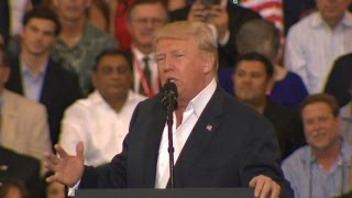 Watch full video: After a week of crisis, Trump addresses Florida rally