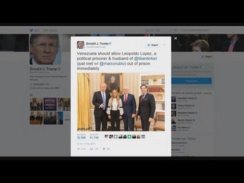 Trump pide la liberación de Leopoldo López tras reunión con Tintori