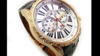 Roger Dubuis Excalibur DBEX0176 18k Rose Gold Chronograph