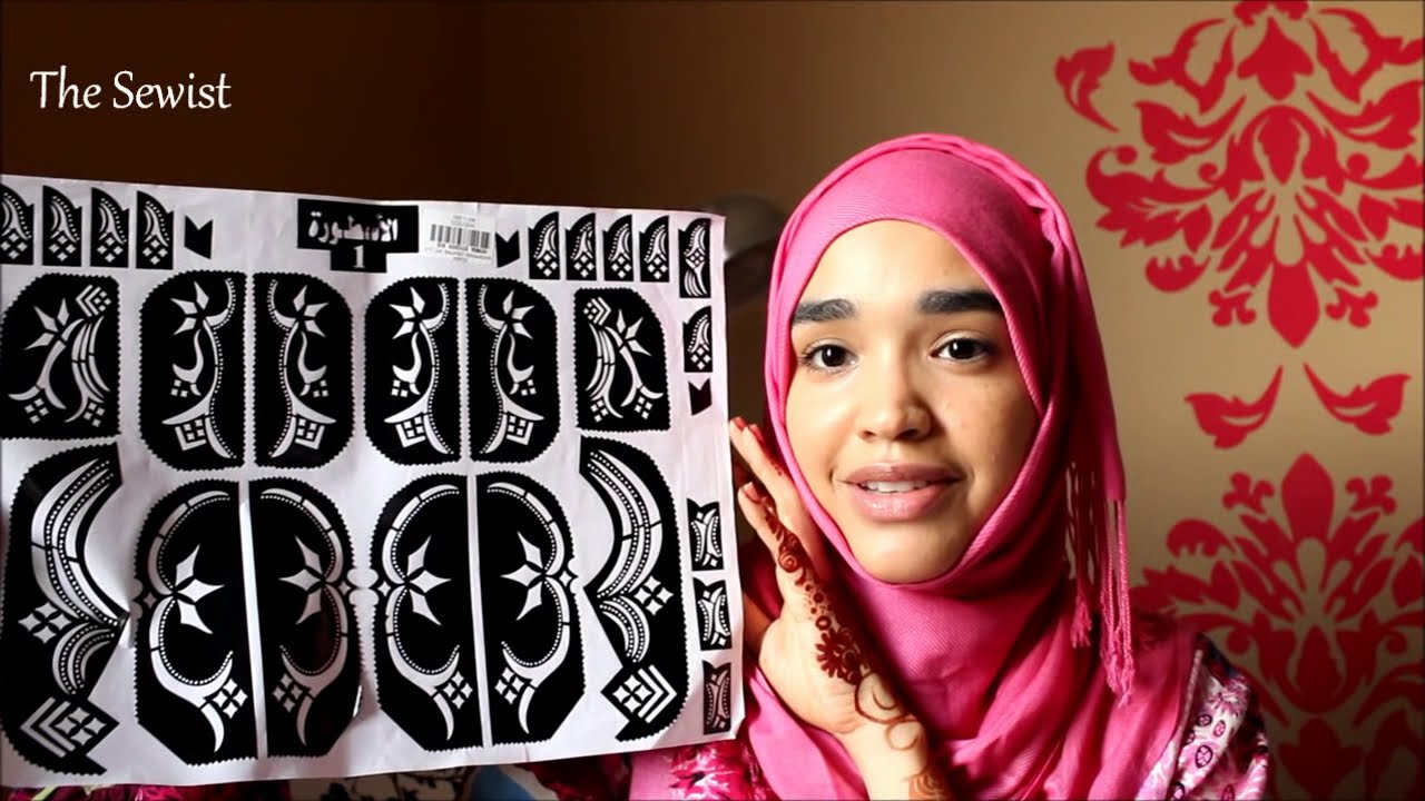 mehndi designs using stickers quick and easy by the sewist