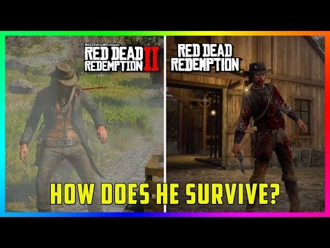 6 Times Where John Marston Survives Fatal Injuries In RDR2 & Red Dead Redemption!