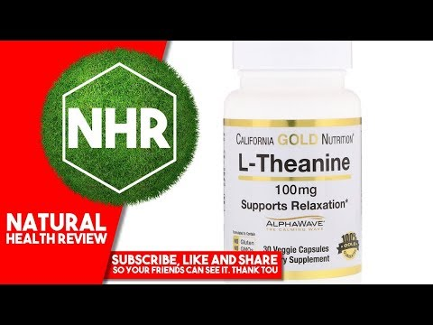 L-Theanine Supports Relaxation AlphaWave Calm Focus 100 mg 30 Veggie Capsules