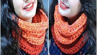 Cuello De Ganchillo Fácil - Easy Crochet Infinity Scarf