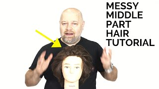 Messy Center Part Hair Tutorial - TheSalonGuy