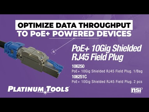 How To: PoE+ 10Gig Shielded RJ45 Connector