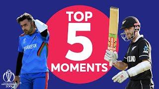 Neesham? Williamson? | Afghanistan vs. New Zealand - Top 5 Moments |ICC Cricket World Cup 2019