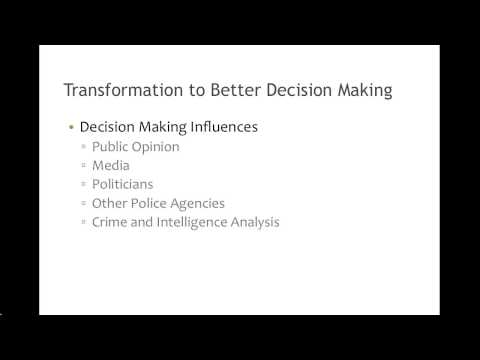 Crime Analysis for Operations Chapter 1: Crime and intelligence ...