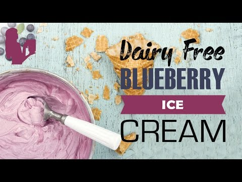 Video Delicious Blueberry Ice Cream recipe made using a Vitamix or Blendtec commercial blender