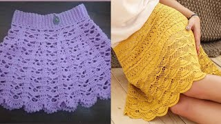 Latest And Trendy Crochet Skirts Designs And Pattern For Girls Fashion