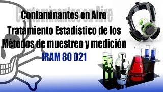 Contaminantes en aire - Tratamiento estadístico de métodos de medición y muestreo