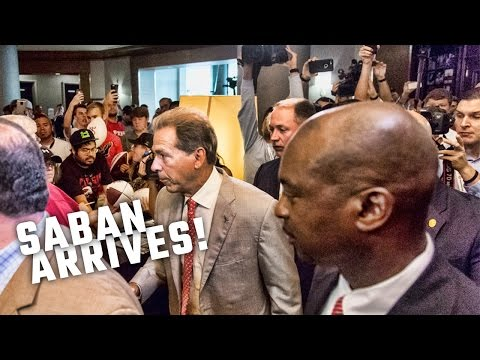 Nick Saban arrives to pandemonium at SEC Media Days 2016
