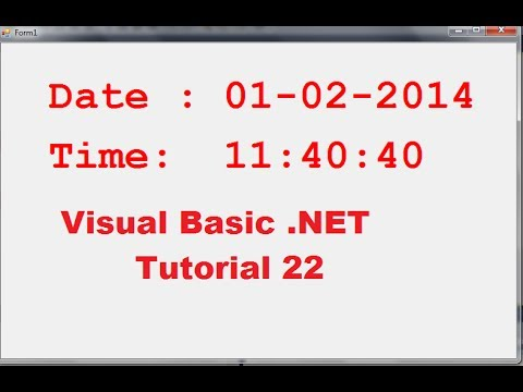 Visual Basic .NET Tutorial 22 – How to show Running Current Date and Time in VB.NET