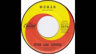 Peter and Gordon   Woman (very rare early version )