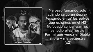 Triste Remix Letra   Bryant Myers Ft  Bad Bunny & Anuel AA