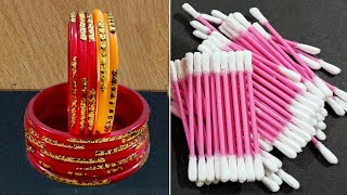 3 Amazing Home Decor Crafts Out Of Waste Bangles And Earbuds | Easy Diy Arts And Crafts