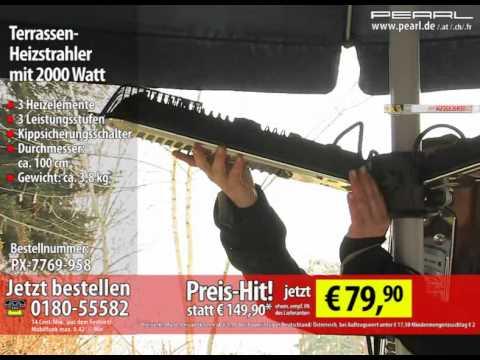 Terrassen-Heizstrahler mit 2000 Watt