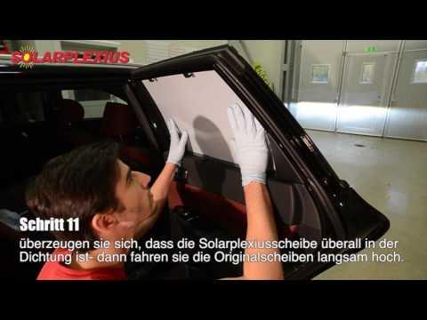 Autosonnenschutz, Scheibenverdunklung Einbau Solarplexius Kia Optima