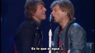 That's what the water made me - Bon Jovi Subtitulado subtítulos español