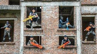 LTT Game Nerf War : Winter Warriors SEAL X Nerf Guns Fight Criminal Group Rocket Rescuer