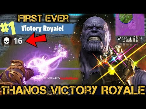 *NEW* Fortnite THANOS Victory Royale The END is NEAR! FIRST WIN 16 KILLS Gameplay